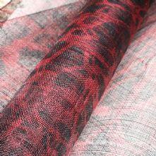 Cherry Red and Black Giraffe Print Milliner's Sinamay